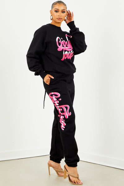 Black Girls Tour Airbrush Sweats