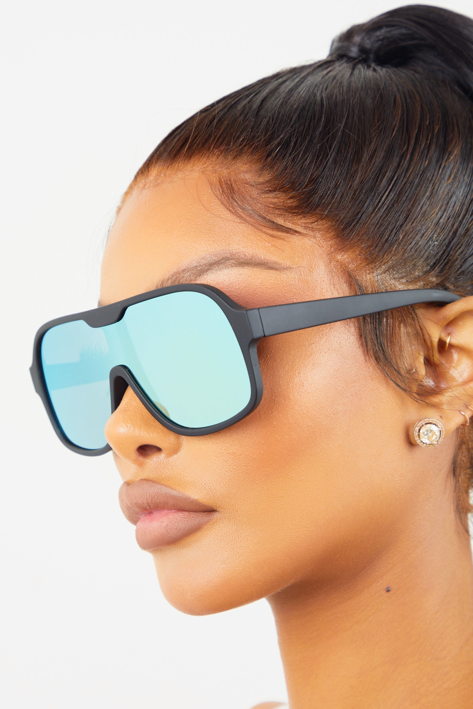Yellow Flat Top Revo Sunglasses