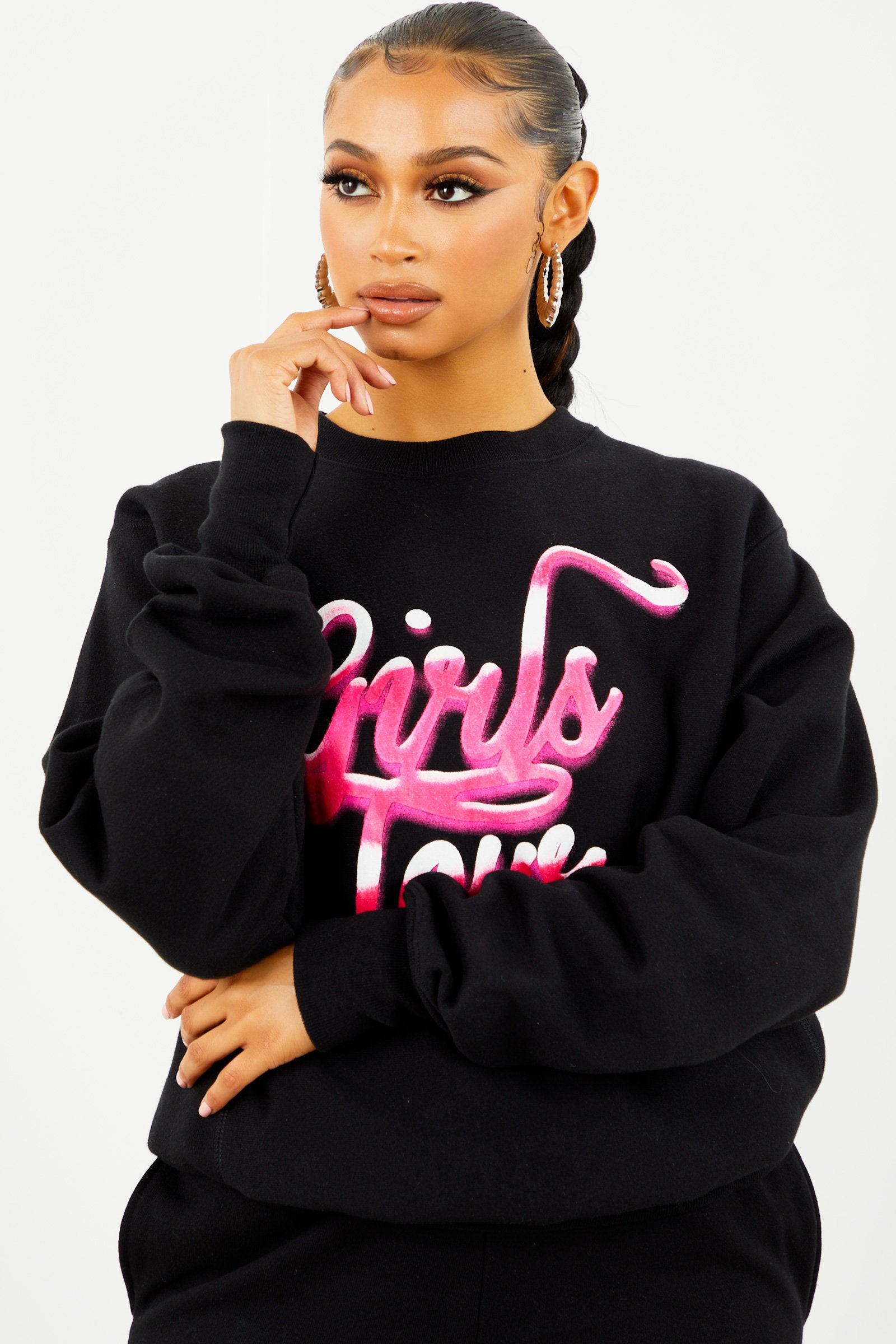 Black Girls Tour Airbrush Crewneck
