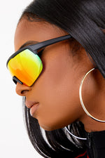 Orange Iridescent Moto Sunglasses