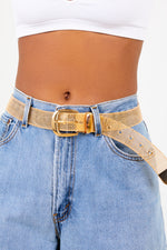 Gold Buckle Chain Belt