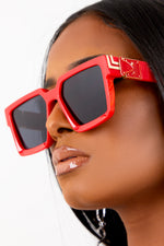 Red Square Retro Lens Sunglasses