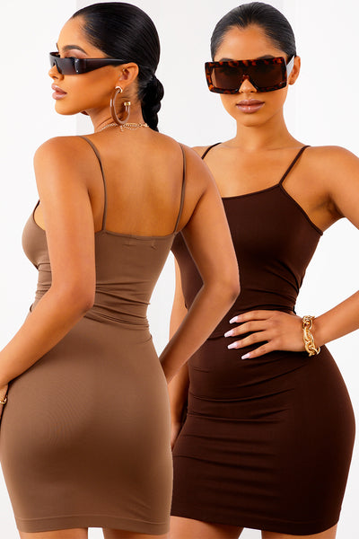 2 Pack Brown and Mocha Love Struck Dress
