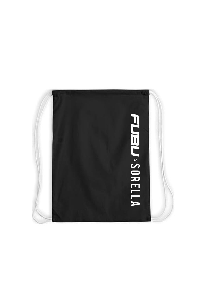 Fubu Drawstring Backpack - Black