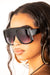 Rectangular Ombre Black Flat Top Frame Sunglasses