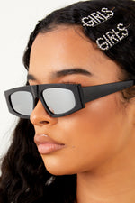 Envy Me Sunglasses-Silver/Black