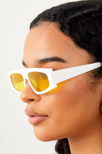 Envy Me Sunglasses -Yellow/White
