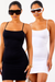 2 Pack Black and White Love Struck Dress