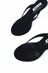 Black Sandal Clear Wedge Heel