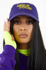 Girls Tour Racer Dad Hat Purple