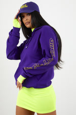 Girls Tour Racer Hoodie Purple