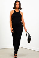 Sorella Black Thermal Maxi Dress