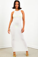 Sorella White Thermal Maxi Dress