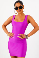 Sorella Purple Tank Mini Dress