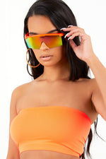 Neon Orange Basic Bandeau