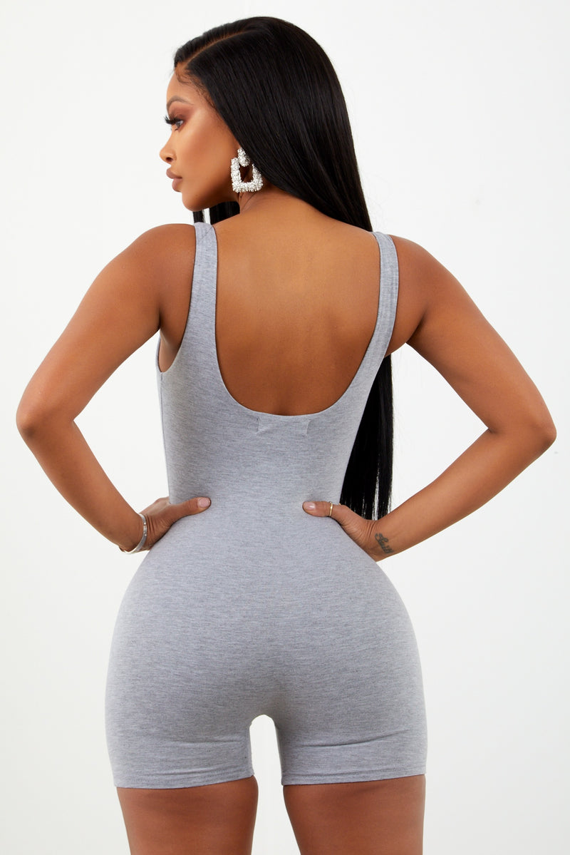 Sorella Heather Grey Basic Unitard