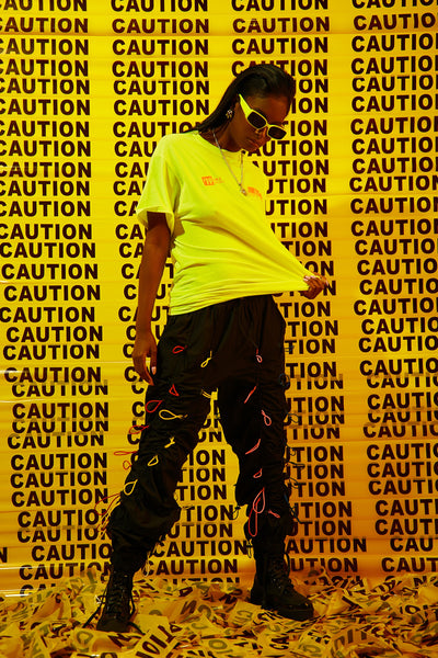 Sorella Shape Caution T-Shirt Neon Yellow