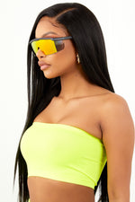 Neon Yellow Basic Bandeau