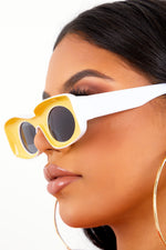 Yellow Inverted Frame Sunglasses