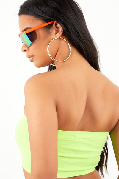 Neon Lime Basic Bandeau
