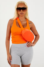Light Orange Ribbed Tank