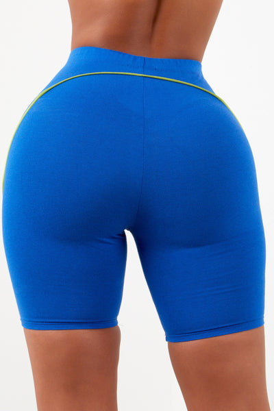 Sorella Piping Biker Shorts - Royal Blue