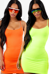 2 Pack Neon Lime and Neon Orange Love Struck Dress