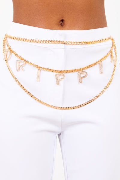 Gold Drippin Multi Chain Belt