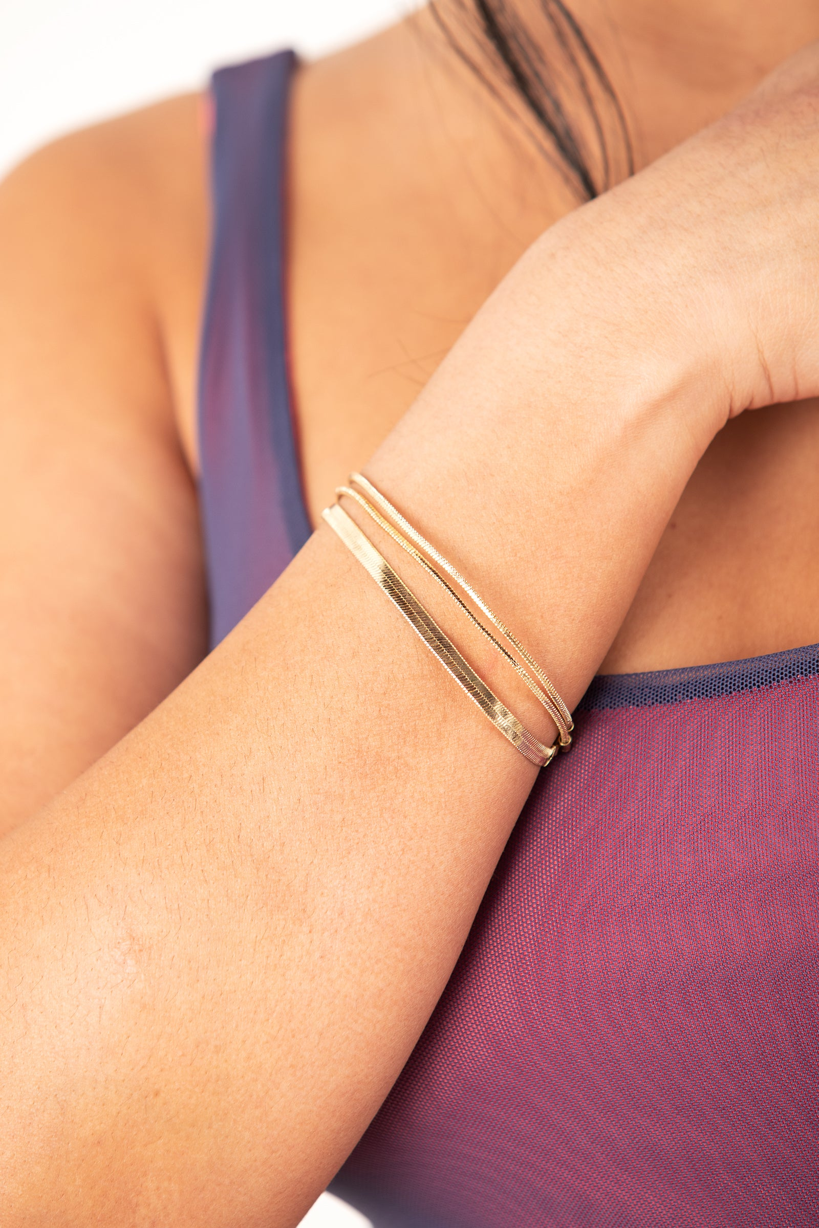 Multilayer Gold Bracelet