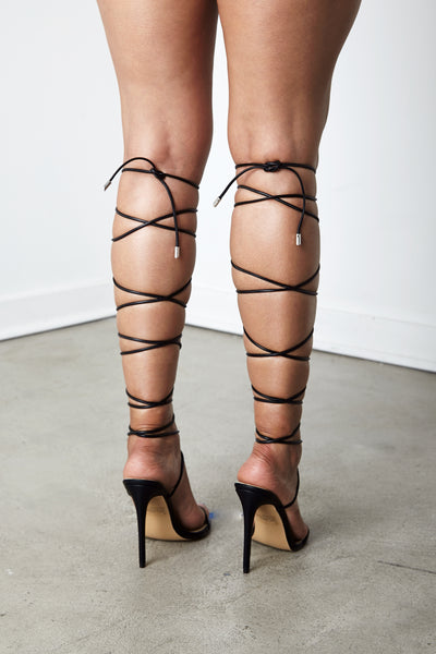 Black Nymph Lace Up Sandal
