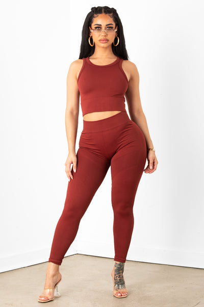 Brick Cropped Legging