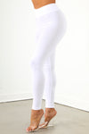 White High Rise Legging