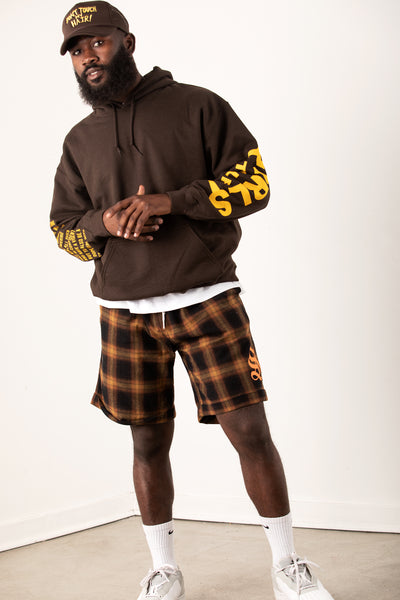 Swish Flannel Shorts - Brown