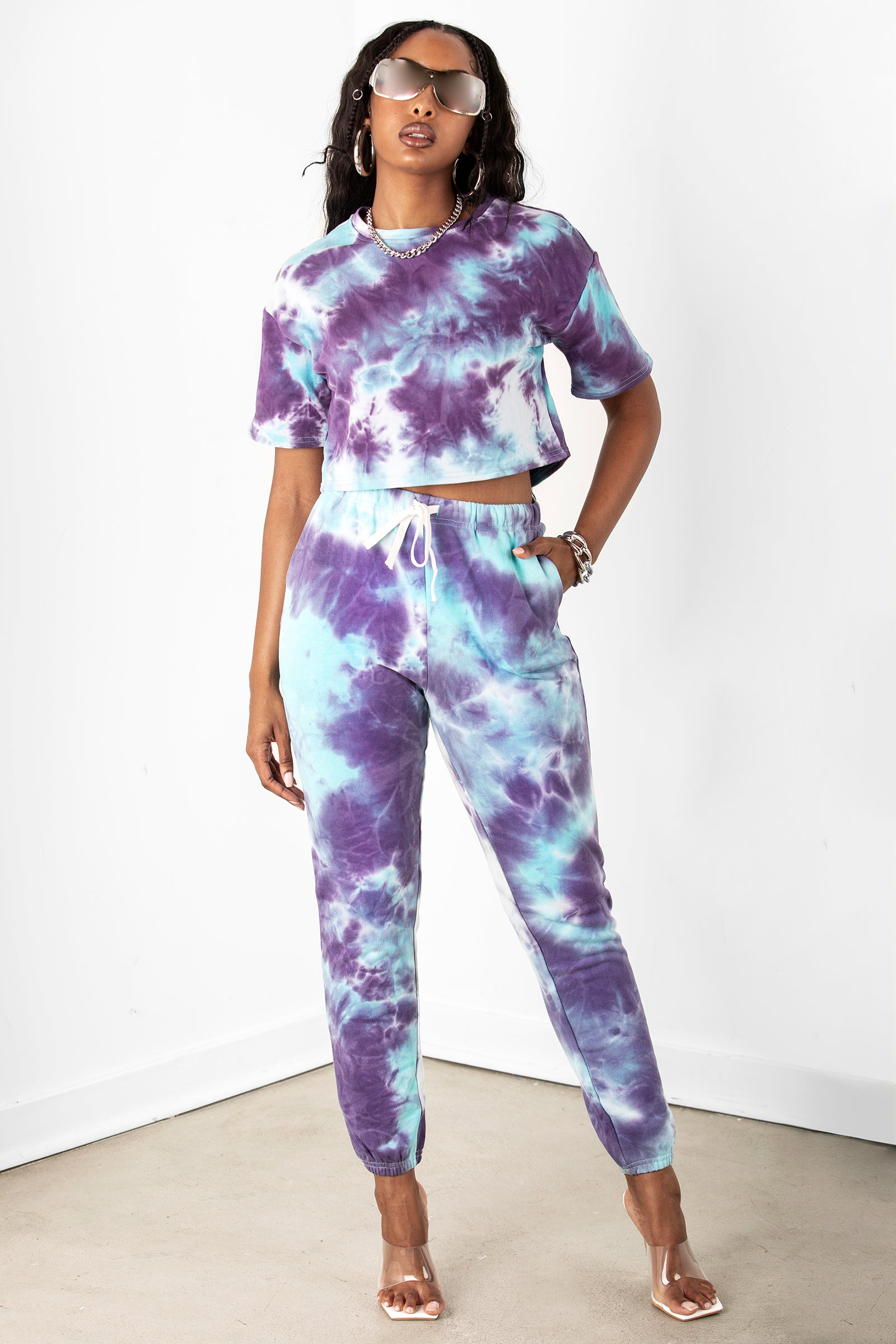 Blue/Purple Tie Dye Joggers