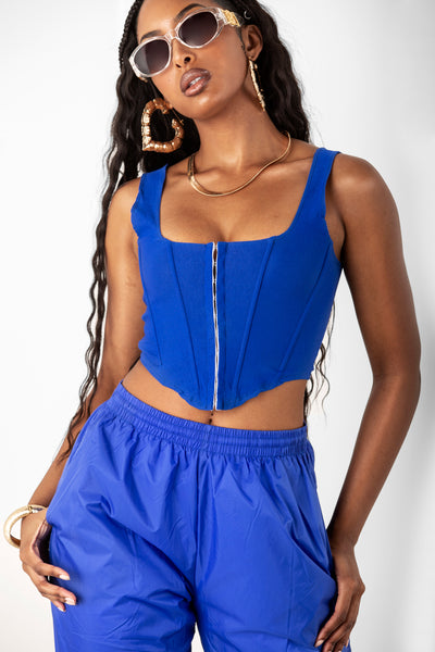 Royal Blue Corset Tank