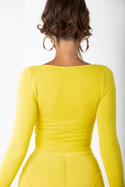 Yellow Zipper Long Sleeve