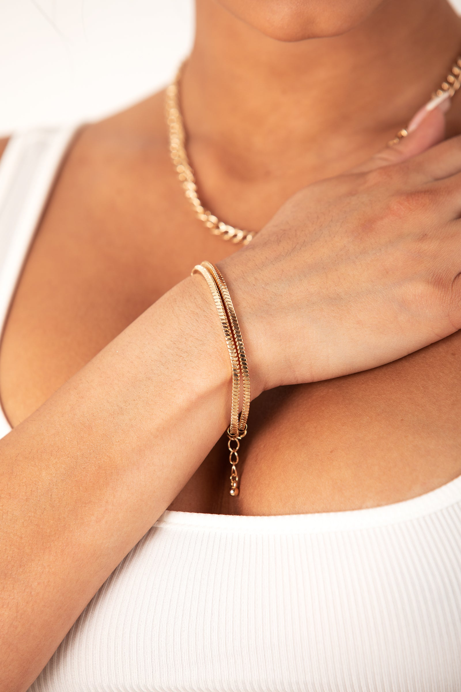 Gold Double Rope Bracelet