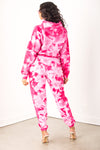 Girls Tour Crystal Wash Sweats Pink