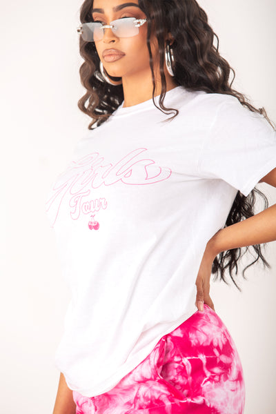 Girls Tour Cherry Tee White