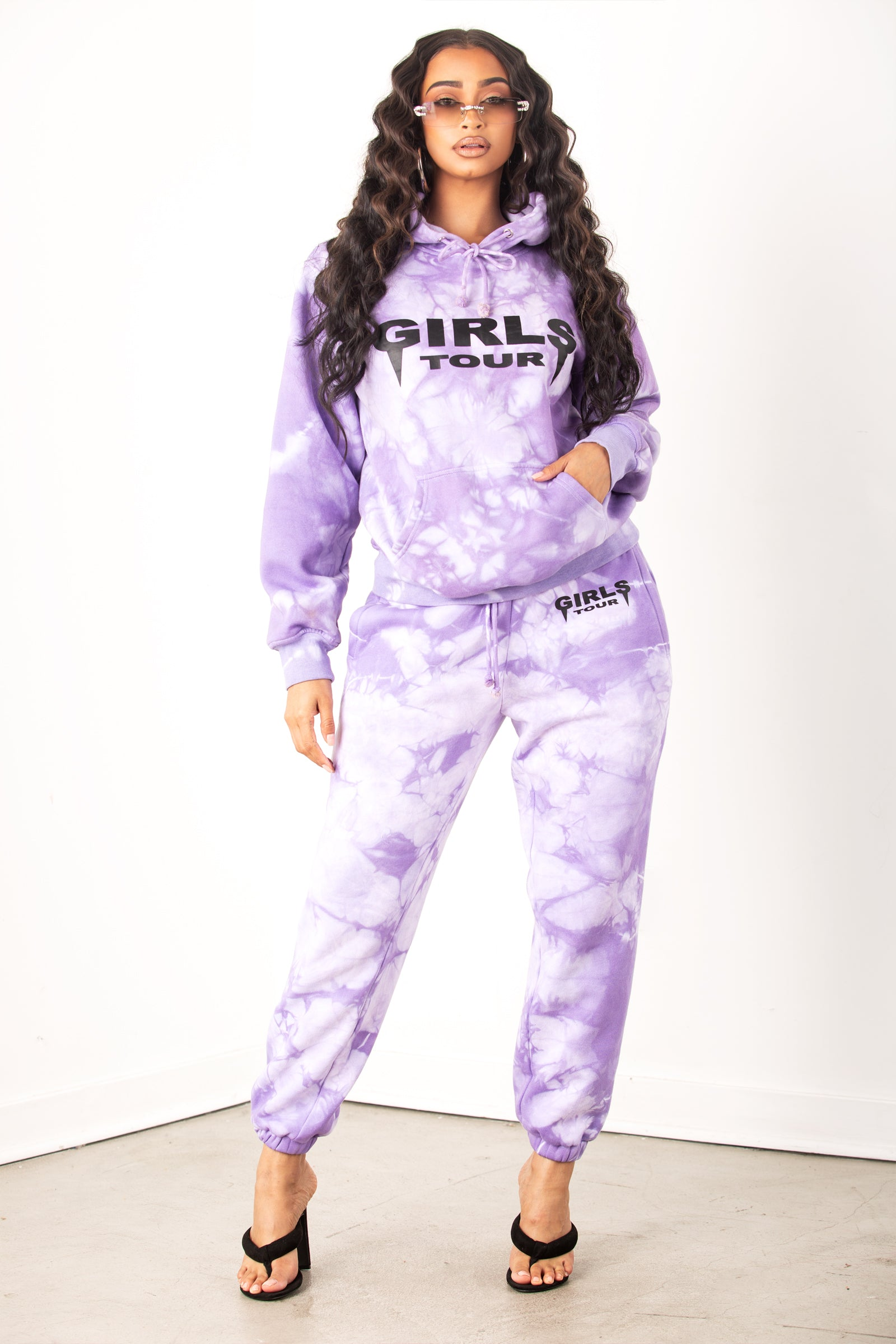 Og Girls Tour Purple Outline Sweatpants