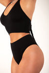 Black Ribbed Halter Brami Top