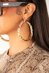 Thick Twisted Hoop Earring - Gold