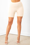 Nude Ruched Short Set