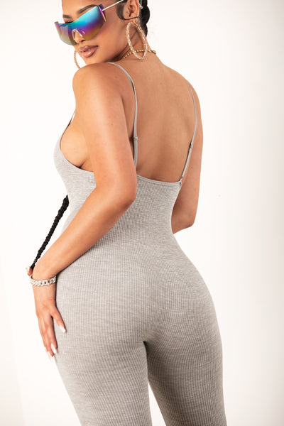 Heather Grey Seamless Jumpsuit