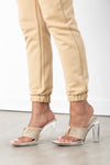 Nude Terry Cloth Sandal