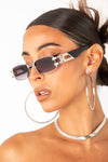 Blk/Silver Pop Star Square Frame Sunglasses