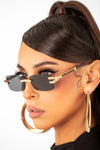 Black/Brown Diamond Cardi Sunglasses