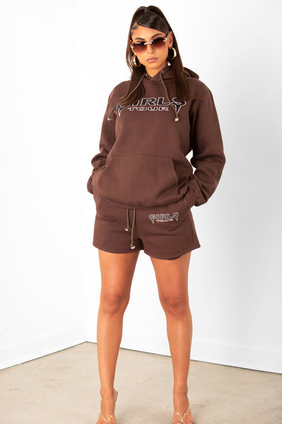 Brown Og Girls Tour Sweat Shorts
