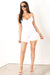 White Ribbed Shaping Romper