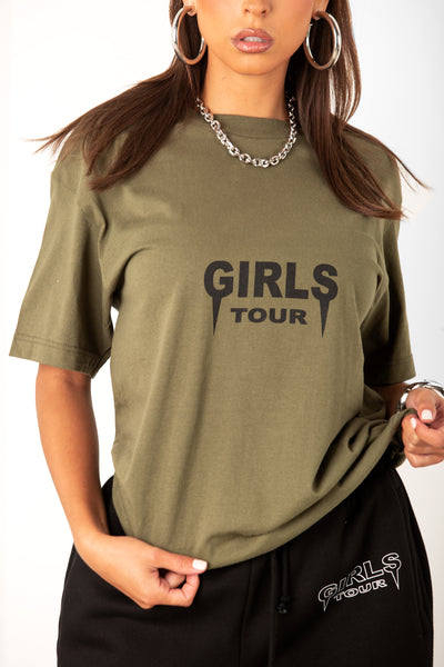 OG Girls Tour Tee - Olive/Black